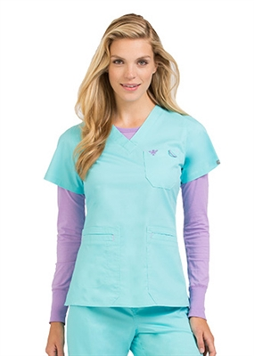 Med Couture Heidi Top in Blue Crush/Purple Haze