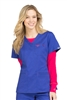Med Couture Moda Top in Blue Gem/Crimson