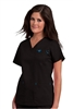 Med Couture Moda Top in Black/Pacific - $23.99