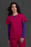 Med Couture Moda Top in Berry/Imperial - $23.99