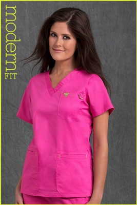 Med Couture Moda Top in Cotton Candy/Kiwi - $23.99