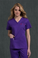 Med Couture Moda Top in Imperial/Berry - $23.99