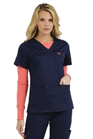 Med Couture Moda Top in New Navy/Apricot - $23.99