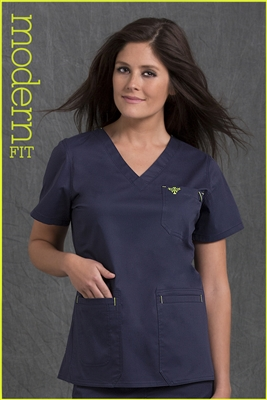 Med Couture Moda Top in Navy/Apple - $23.99