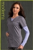 Med Couture Moda Top in Steel/Peri - $23.99