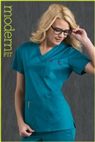 Med Couture Moda Top in Teal/Eggplant - $23.99