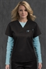 Med Couture 1 Pkt Top in Charcoal/Aruba Blue - $22.99