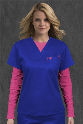 Med Couture 1 Pkt Top in Royal/Passion Pink - $22.99