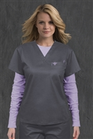 Med Couture 1 Pkt Top in Steel/Peri - $22.99