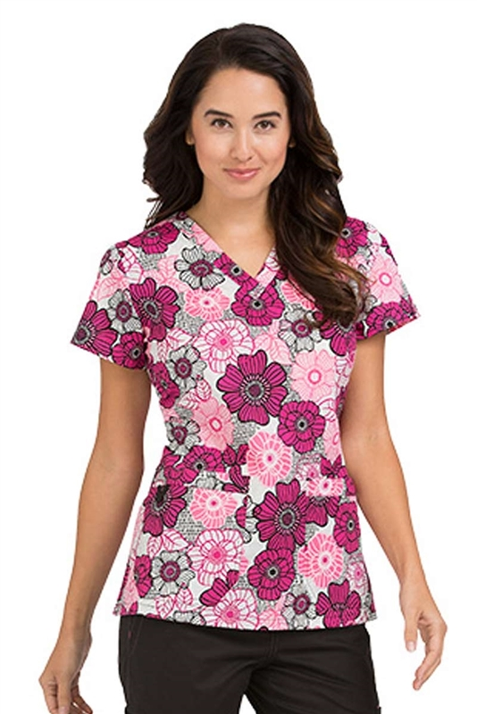 MC2 Niki Print Top in Circle of Fun by Med Couture
