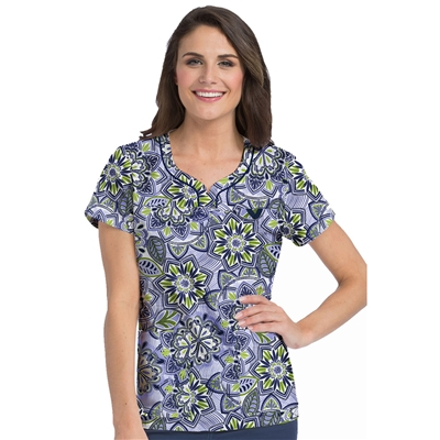 Med Couture Lexi Print Top in Perfect Harmony