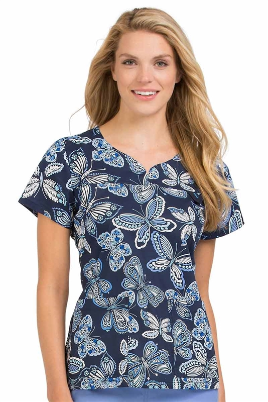 MC2 Lexi Print Top in All Abuzz by Med Couture