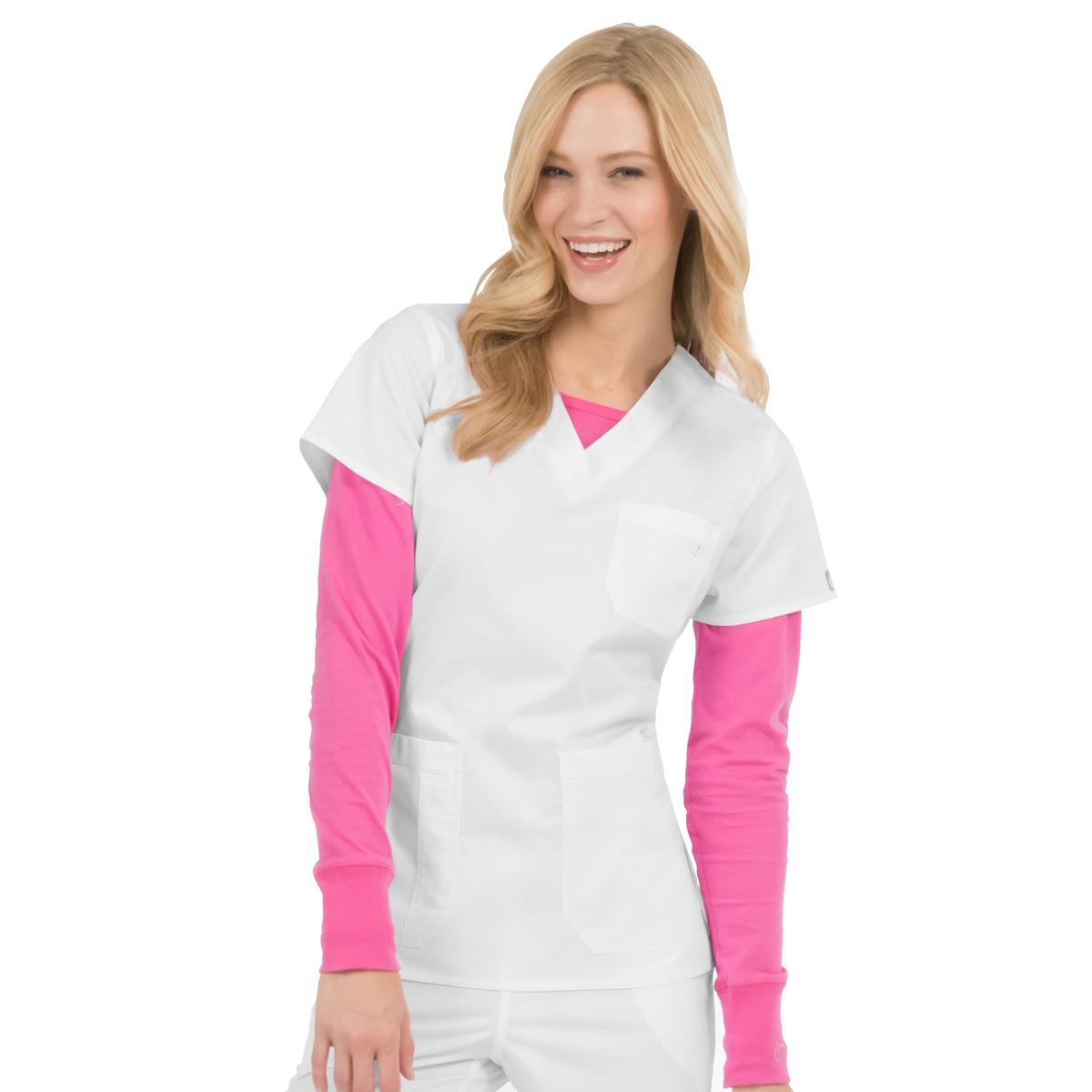 a6b38a82b10 Med Couture / MC2 Niki Top in White | Shop Scrub Tops Now