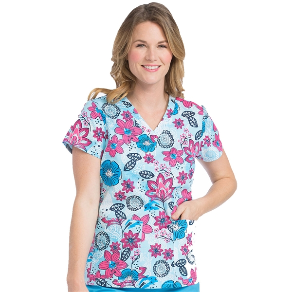 Med Couture Valerie Print Top Petals In Paradise