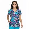 Med Couture Activate Refined Scrub Top in Catch of the Day