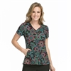 Med Couture Activate Refined Scrub Top in Summer Splendor