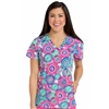 Med Couture Activate Refined Scrub Top in Tie-Dye Mirage