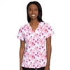 Med Couture V-neck Top Print in Happy Heart