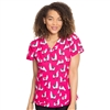 Med Couture V-Neck Print Top in Lovable Llamas