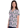 Med Couture V-Neck Print Top in Tropical Palm