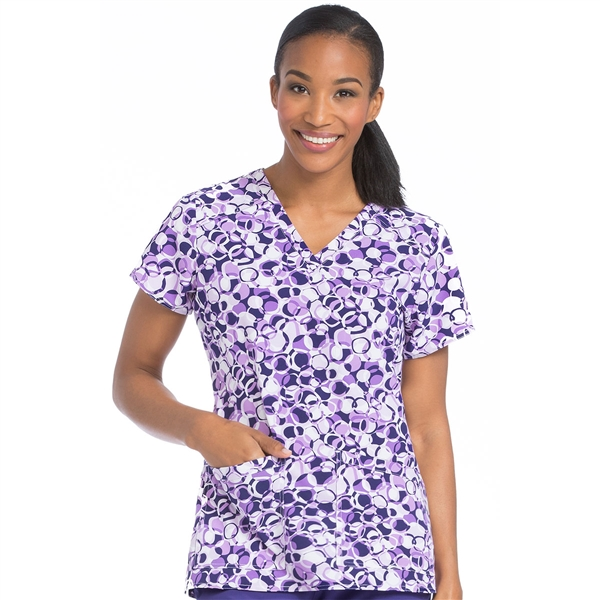 Med Couture Air Sky High Print Top in Spheres Of Grape