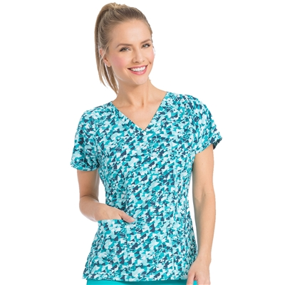 Med Couture Air Spirit Print Top in Arrow Adventures
