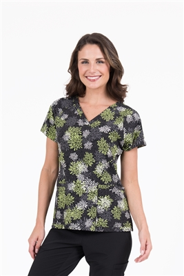 Med Couture Air Spirit Print Top in Apple Starburst