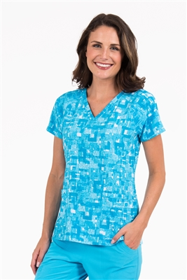 Med Couture Air Spirit Print Top in Paint Me Blue