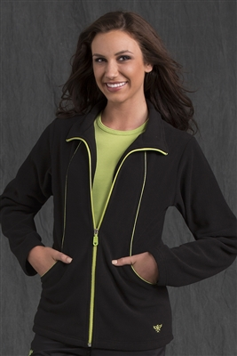 Med Couture Fleece Jacket in Black/Kiwi