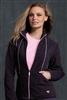 Med Couture Fleece Jacket in Charcoal/Powder Pink- $28.99