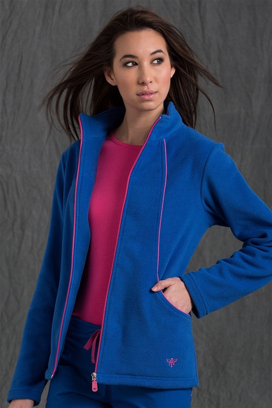 Med Couture Fleece Jacket in Royal/Passion Pink- $28.99