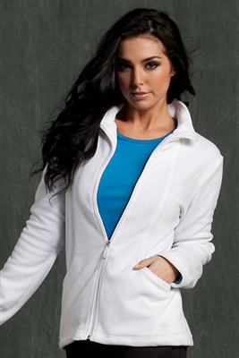 Med Couture Fleece Jacket in White