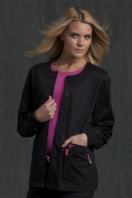 Med Couture Warm-Up in Black/Raspberry- $29.99