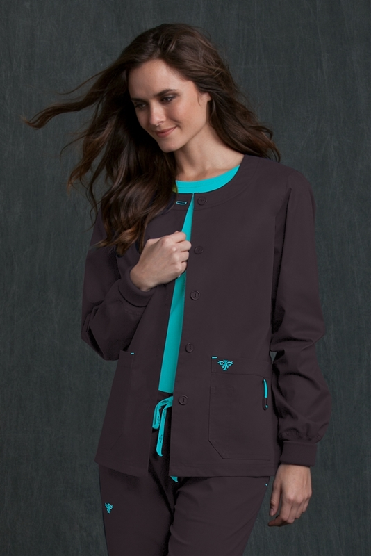 Med Couture Warm-Up in Charcoal/Aruba Blue- $29.99