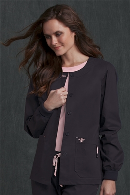 Med Couture Warm-Up in Charcoal/Powder Pink- $29.99
