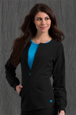 Med Couture GOLD Fleece Jacket in Black/Pacific- $31.99