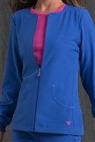 Med Couture GOLD Fleece Jacket in Royal/Passion Pink- $31.99