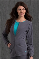 Med Couture GOLD Fleece Jacket in Steel/Surf- $31.99