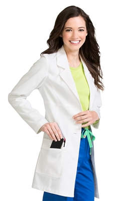 "Med Couture 32"" Lab Coat in White"