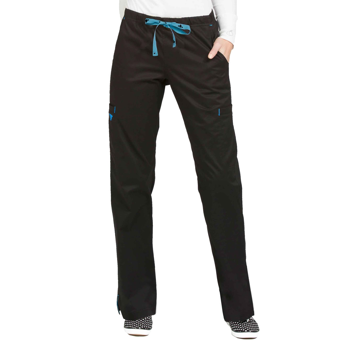 0a2903e5639 Med Couture Gigi Pant in Black/ Pacific | Scrub Pants