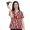 Med Couture Anna Print Top in Penguin Dance