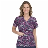 Med Couture Anna Print Top in Ribbons of Hope