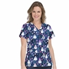Med Couture Anna Print Top in Winter Fun