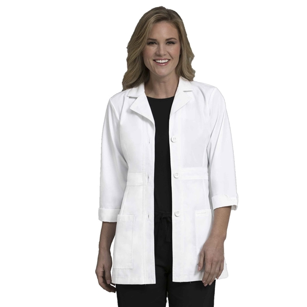 "Peaches 31"" Lab Coat in White"