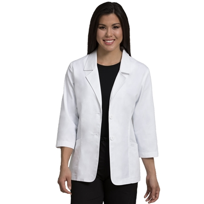 "Peaches 28"" Lab Coat in White"