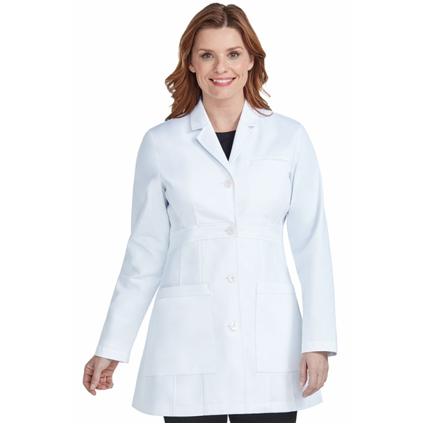 Med Couture Tailored Long Length Lab Coat