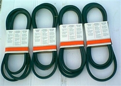 Set of 4 Tar River Drum Mower Belts Model 165 (matched set)