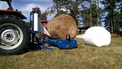 New Econo-Wrap EW-450A Bale Wrapper--3 Point Hitch Stationary Unit.