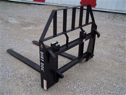 New Dirt Dog Mfg. Euro Style Pallet Forks Quick Attach