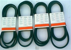 New Fort disc mower matched set of 4 drive belts